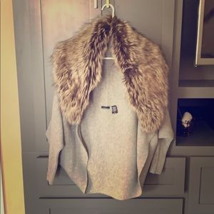 Victoria's Secret fur shrug sweater medium